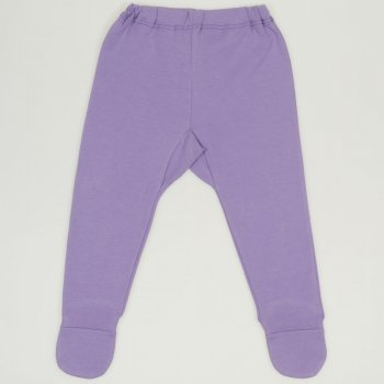 Pantaloni cu botosei si elastec mov | liloo