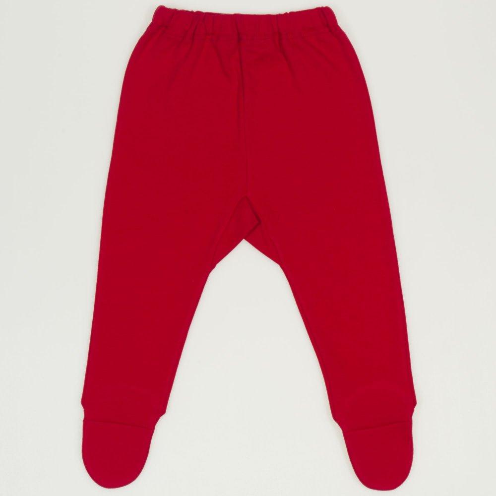 Pantaloni cu botosei si elastec rosu  | liloo