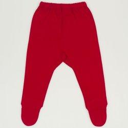 Pantaloni cu botosei si elastec rosu