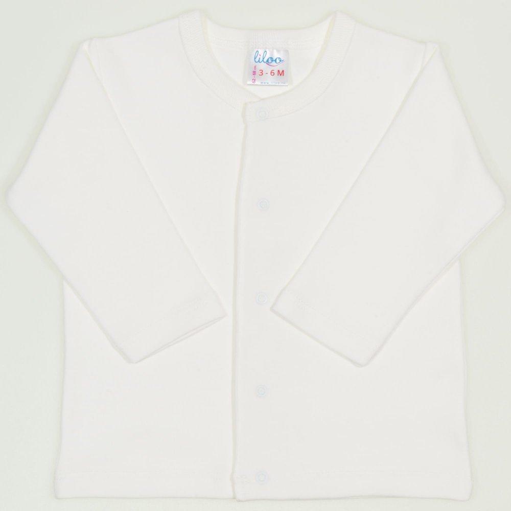 Bluza bebelusi cu maneca lunga si inchidere frontala blanc de blanc | liloo