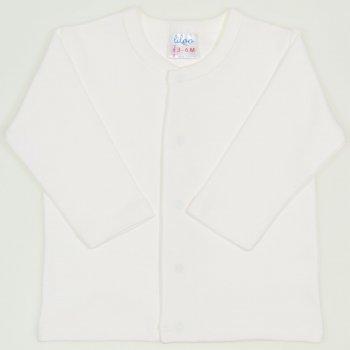 Bluza bebelusi cu maneca lunga si inchidere frontala blanc de blanc