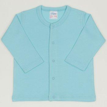 Bluza bebelusi cu maneca lunga si inchidere frontala blue radiance