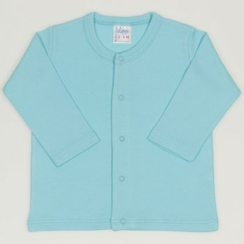 Bluza bebelusi cu maneca lunga si inchidere frontala blue radiance  | liloo