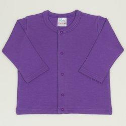Bluza bebelusi cu maneca lunga si inchidere frontala mov deep lavender