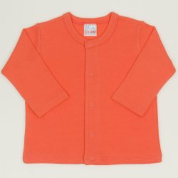 Salmon living coral long-sleeve center-snap tee