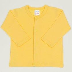 Bluza bebelusi cu maneca lunga si inchidere frontala minion yellow