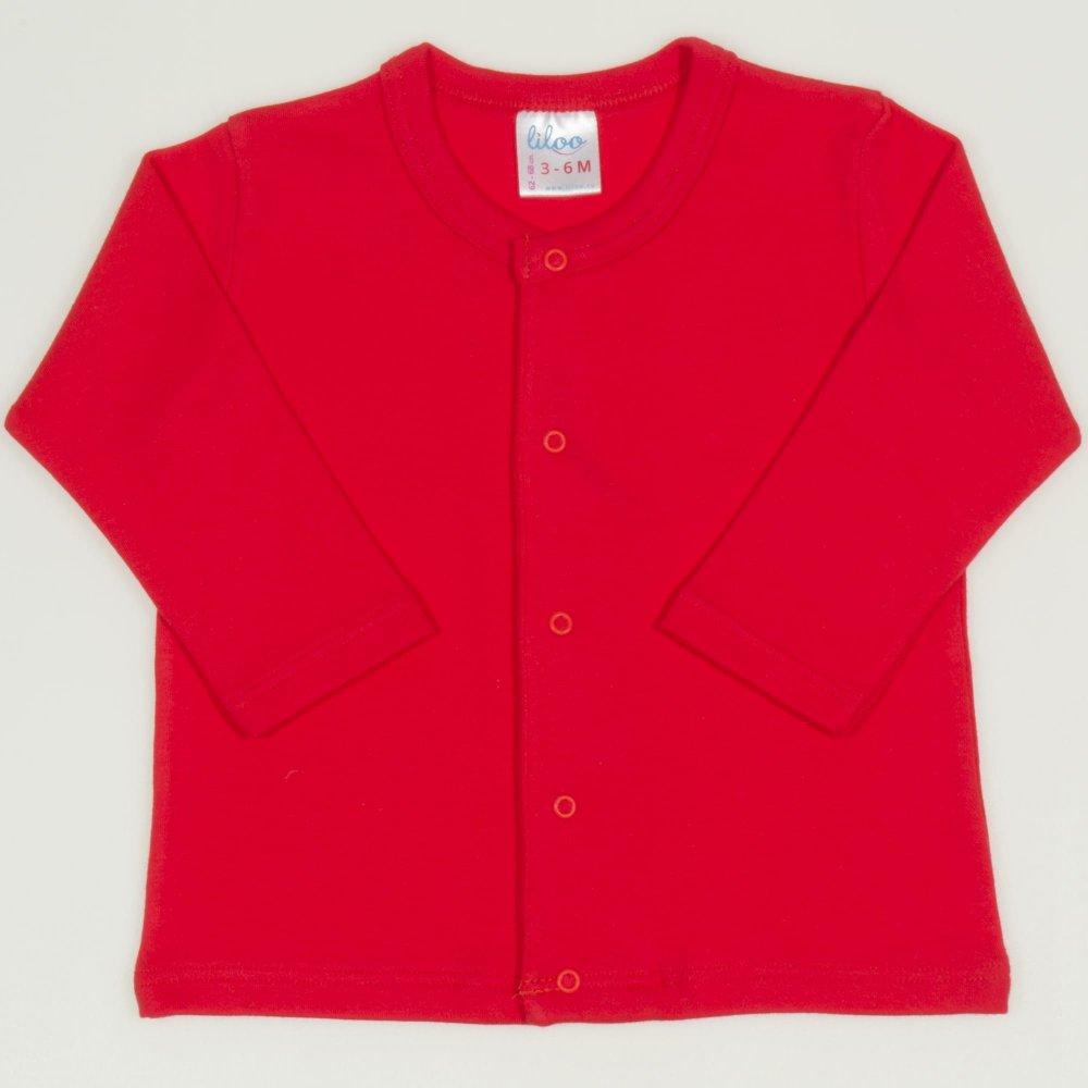 Bluza bebelusi cu maneca lunga si inchidere frontala rosu tomato | liloo