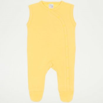 Salopeta fara maneci - pantaloni cu botosei minion yellow uni | liloo