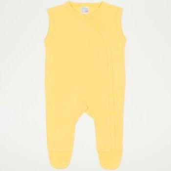 Salopeta fara maneci - pantaloni cu botosei minion yellow uni