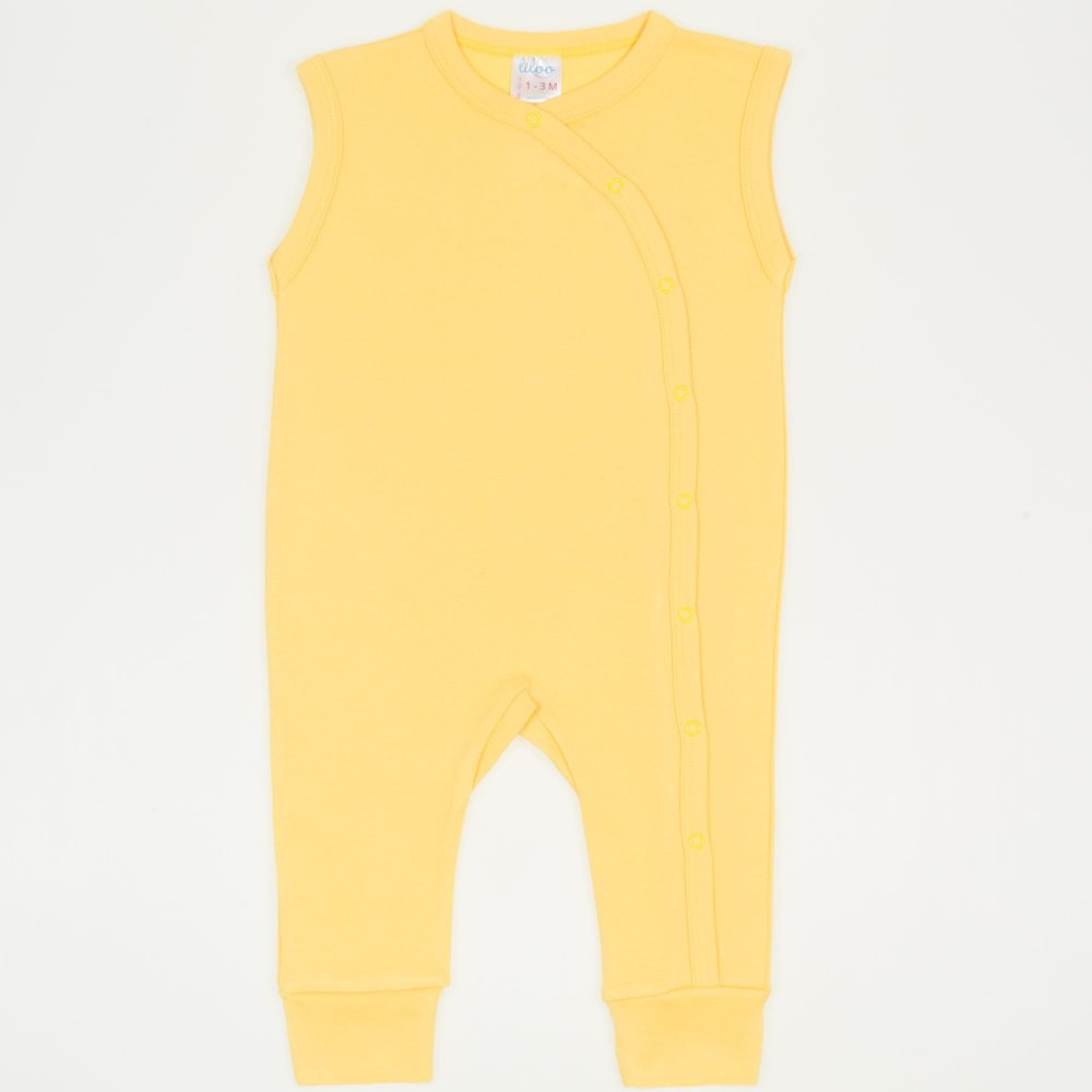 Salopeta fara maneci cu manseta minion yellow uni | liloo