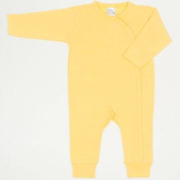 Salopeta maneca lunga si pantaloni cu manseta minion yellow uni