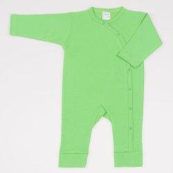 Salopeta maneca lunga si pantaloni cu manseta irish green uni
