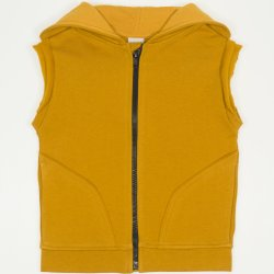Buckthorn-brown thick hooded vest