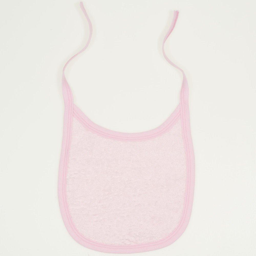 Bavețică (bărbiță) din material de prosop roz | liloo