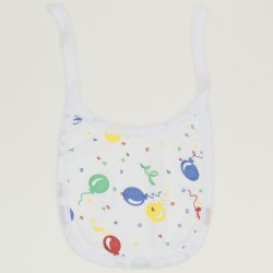 White bib with balloons allover print