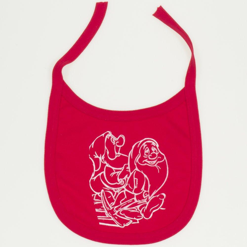 Bavetica (barbita) rosie imprimeu pitici | liloo