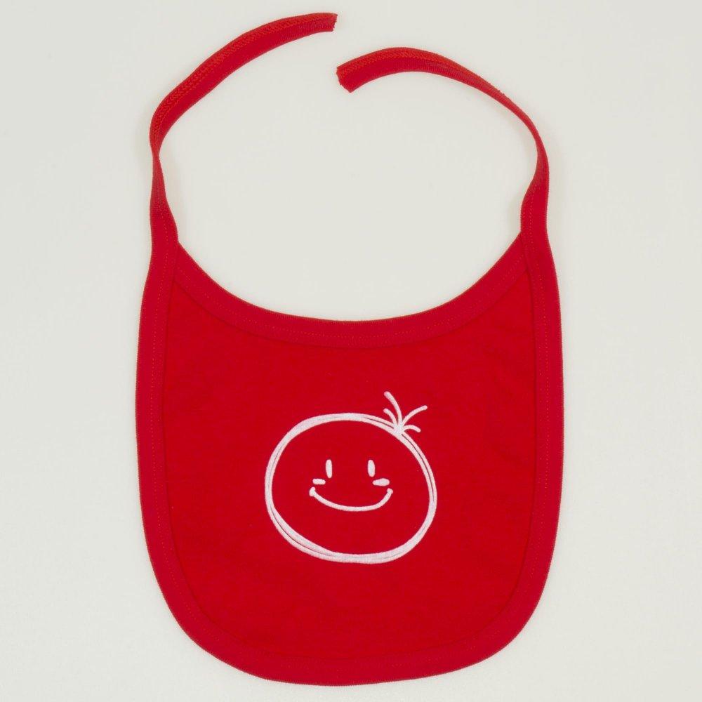 Bavetica (barbita) rosie imprimeu smiley | liloo