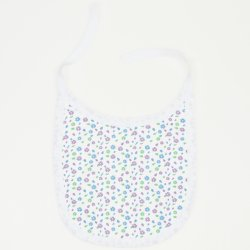 White bib with flowers print