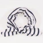 Bentita fetite - alba cu dungi negre | liloo