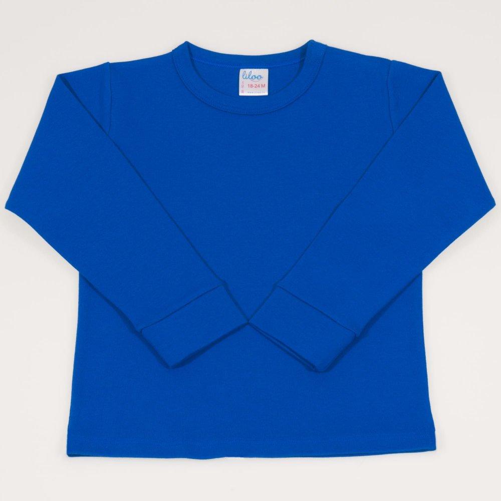 Bluza casa maneca lunga classic blue   liloo