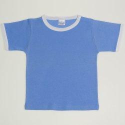 Bluză casă mânecă scurtă azur închis
