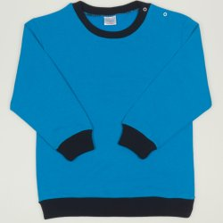 Thin turquoise sweatshirt with navy blue