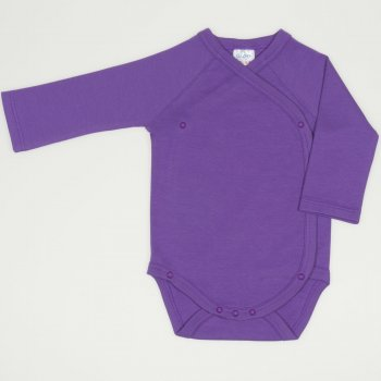Body capse laterale maneca lunga mov deep lavender uni  | liloo