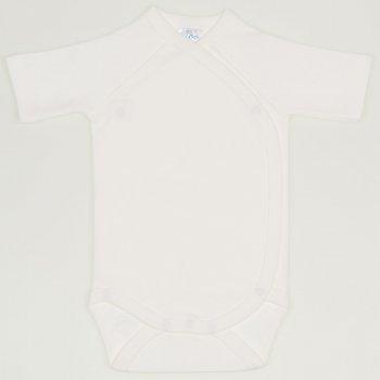 Body capse laterale maneca scurta alb blanc de blanc uni  | liloo