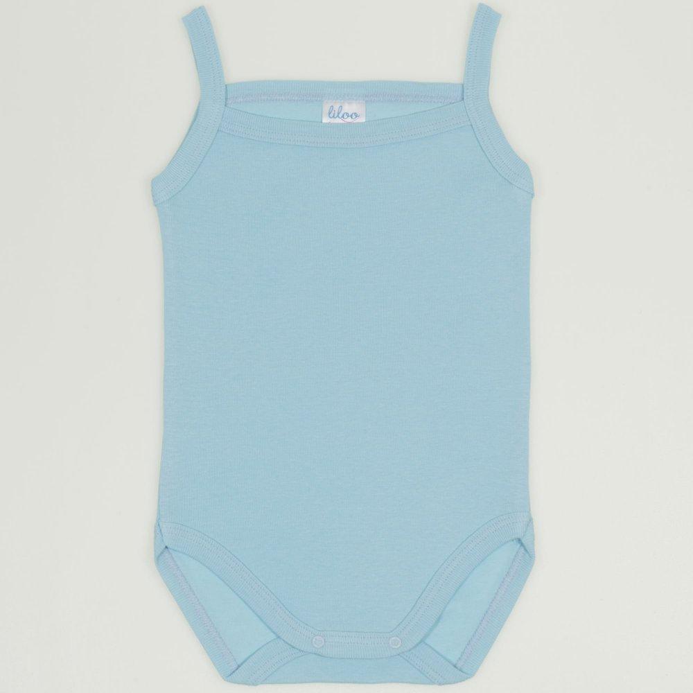 Body maiou bretele bleu petit four uni | liloo