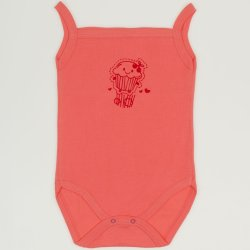 Somon sleeveless bodysuit with cake print