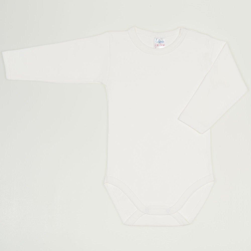 Body maneca lunga alb blanc de blanc uni | liloo
