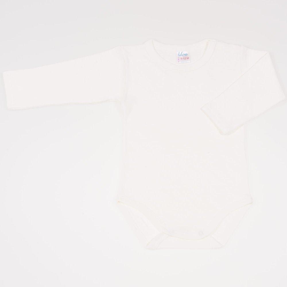 Body maneca lunga ecru - material multistrat premium cu model | liloo