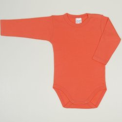 Salmon living coral long-sleeve bodysuit
