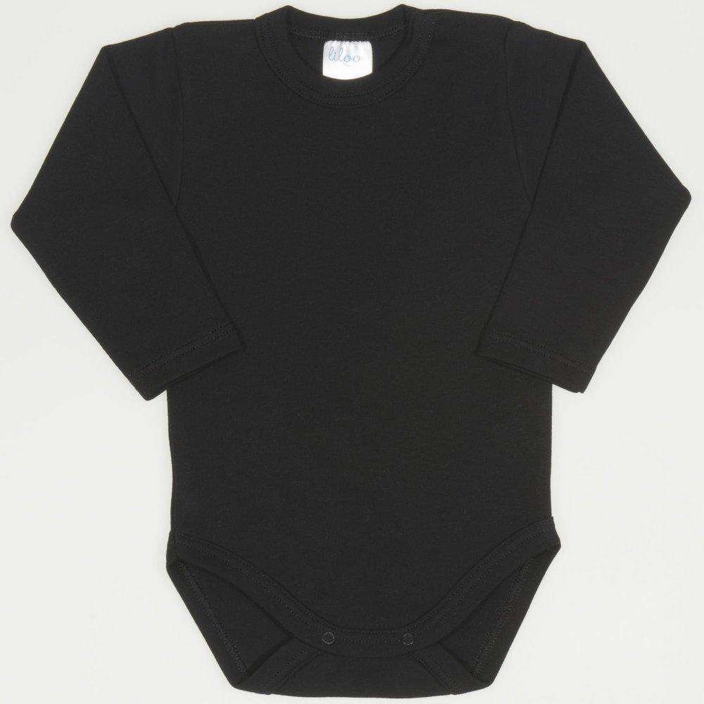 Body mânecă lungă negru uni | liloo