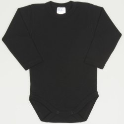 Black long-sleeve bodysuit