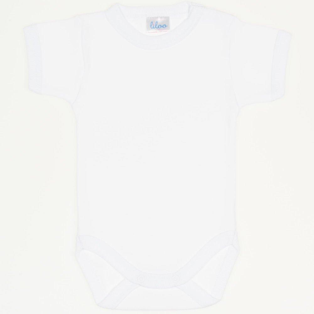 Body mânecă scurtă alb uni | liloo