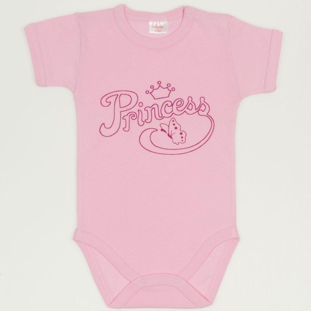 Body maneca scurta roz imprimeu princess | liloo
