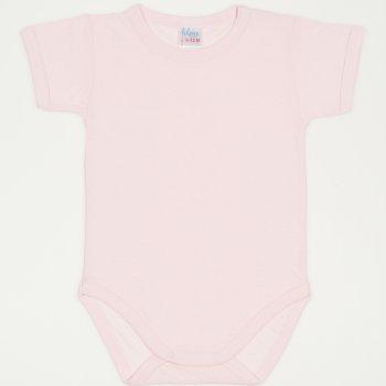 Body maneca scurta roz pal - material multistrat premium cu model