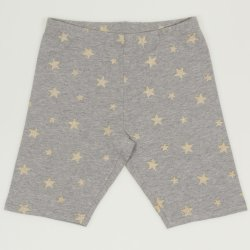 Grey short leggings with golden stars print