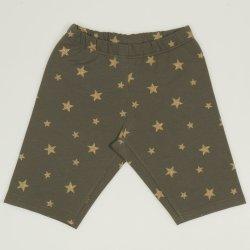 Green short leggings with stars print