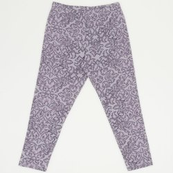 Grey leggings with flowers print