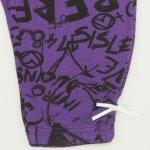 Colanti trei sferturi violet imprimeu model muzica | liloo