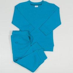 Enamel blue sport outfit