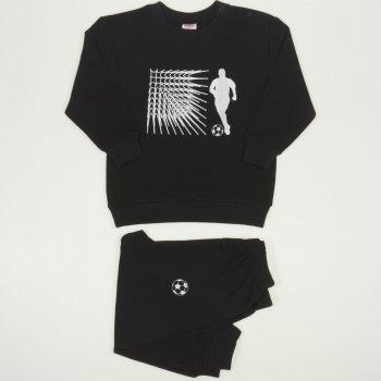 Costum trening subtire negru imprimeu fotbal