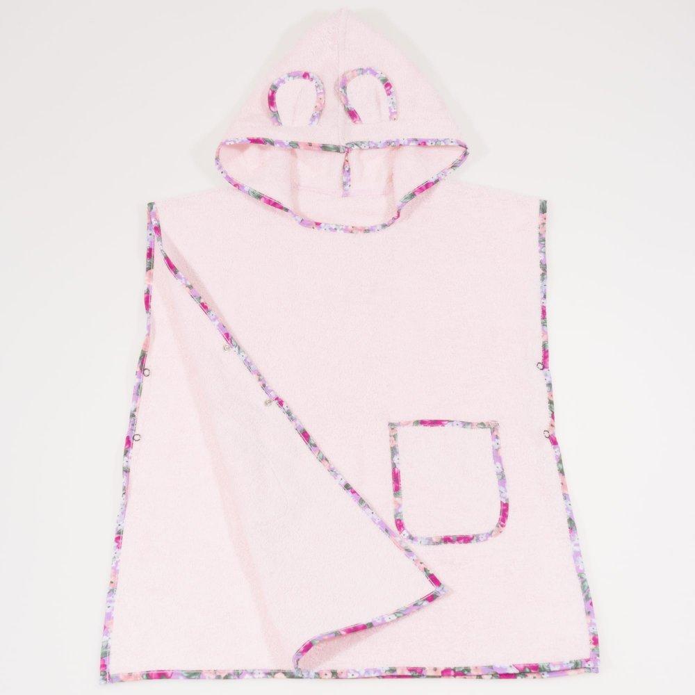 Poncho plaja copii - roz | liloo