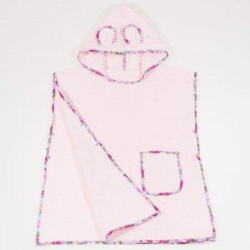 Poncho plaja copii - roz