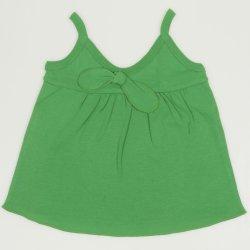 Maiou bretele verde pentru fetite