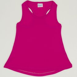 Fuchsia rounded tank undershirt for girls