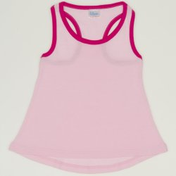 Pink rounded tank undershirt for girls