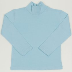 Blue petit four turtleneck